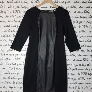 New York & Company Vegan Leather Dress